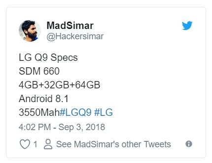 Слухи: LG Q9 готовится к релизу
