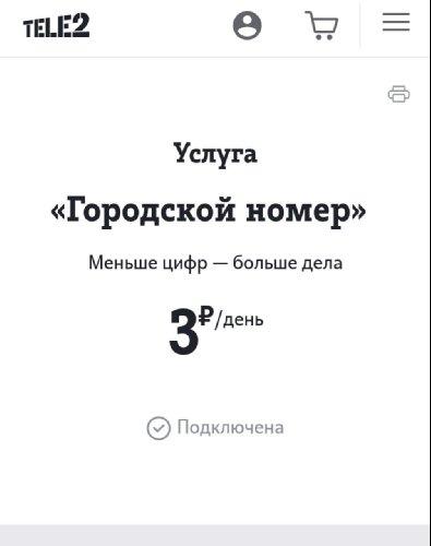 """Услуга """"Городской номер"""" до сих пор стоила 3 рубля в день"""