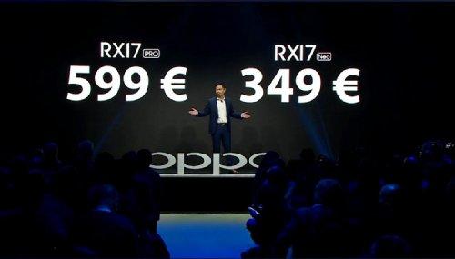 Анонсы: Oppo RX17 Pro и RX17 Neo появятся в Европе 16 ноября