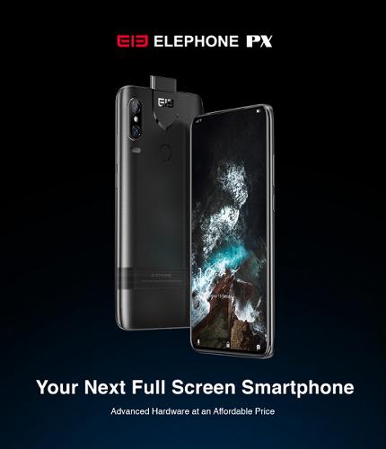Анонсы: Elephone PX позиционируется как самый доступный безрамочный смартфон