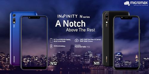 Анонсы: Infinity N11 и Infinity N12 — первые смартфоны  Micromax с вырезом в экране