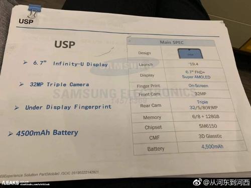Слухи: Утечка раскрыла спецификации Samsung Galaxy A60