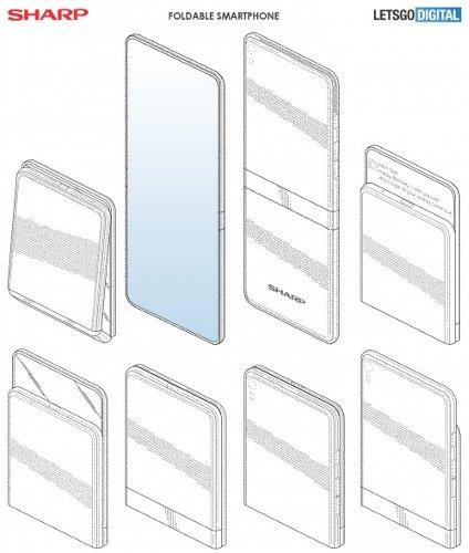 Это интересно: Рендеры показали складной смартфон Sharp