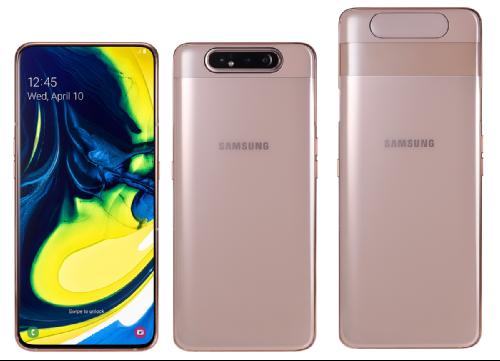 Анонсы: Samsung Galaxy A80 – экран без выреза и повортно-выдвижная камера