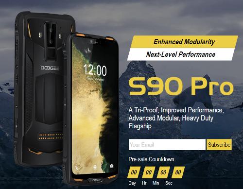 Анонсы: Doogee S90 Pro – обновление модульного ударопрочного смартфона