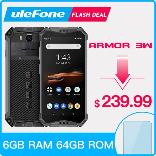 Анонсы: Ulefone Armor 3W / 3WT – смартфоны с батареей 10300 мАч