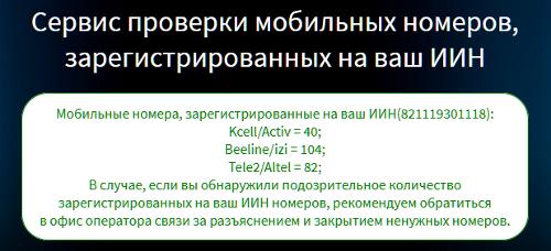 ИИН и номера телефонов в Казахстане