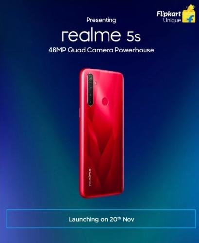 Слухи: Realme 5s с 48 Мп камерой анонсируют 20 ноября