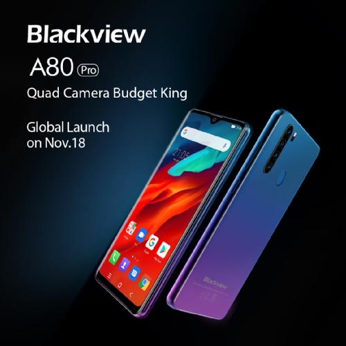 Анонсы: Blackview A80 Pro – бюджетный смартфон с quad-камерой