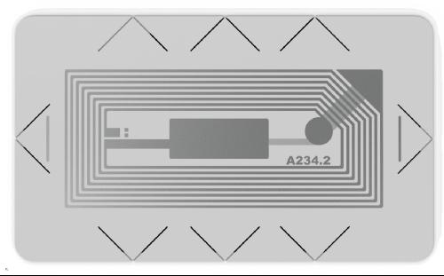 M2746P-03EM - легкоразрушимая метка RFID Микрон