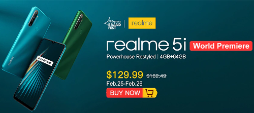 Анонсы: Realme 5i доступен для предзаказа за 9000 рублей