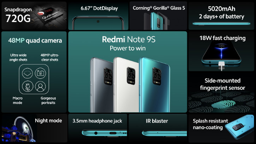 Анонсы: Xiaomi Redmi Note 9S представлен официально