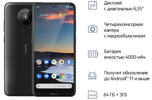 Анонсы: Nokia 5.3 доступен для предзаказа в РФ