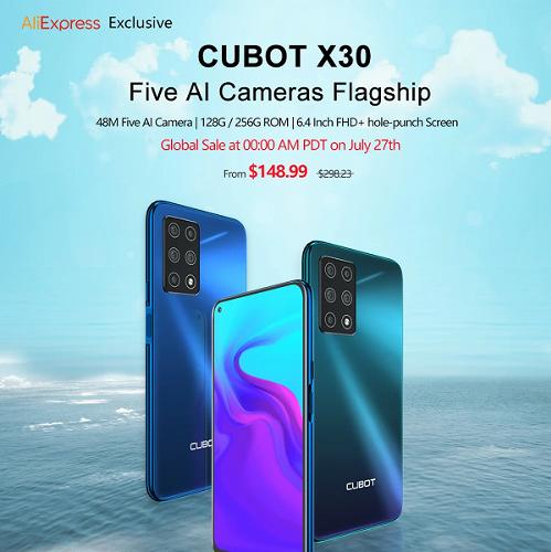 Слухи: Cubot X30 – самый доступный смартфон с пентакамерой