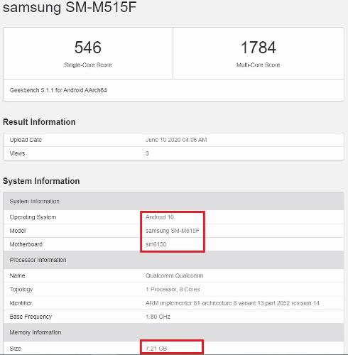 Слухи: Появились подробности о Samsung Galaxy M51