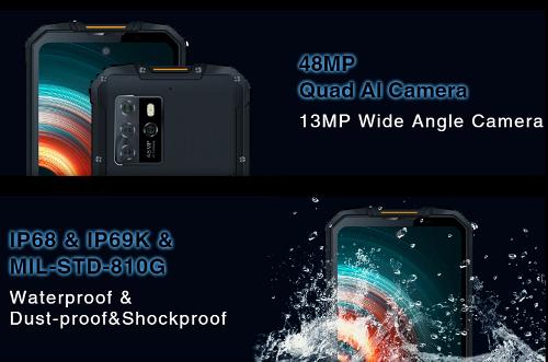 Анонсы: 5G-смартфон Oukitel WP10 получит Dimensity 800 и АКБ 8000 мАч