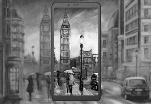 Анонсы: Hisense A7 – смартфон только с дисплеем e-ink