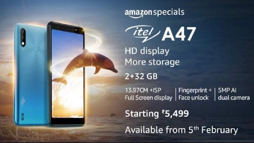 Анонсы: itel A47 – смартфон за 5499 рупий для индийского рынка