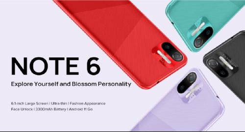 Анонсы: Тонкий смартфон Ulefone Note 6 не получил поддержку 4G