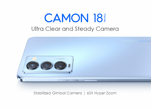 Анонсы: Tecno Camon 18 Premier – камера на подвесе и 60-кратный зум