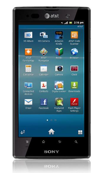 Xperia ion первый смартфон xperia с чипом lte
