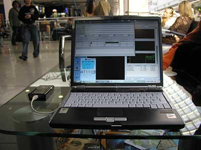 AnyData ADU-E100A с ноутом