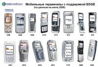 Уже сейчас EDGE поддерживают около 50 моделей телефонов, а до конца 2006 года работу с EDGE будут обеспечивать до 90% новинок.