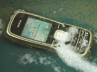 Nokia 5500 in beer